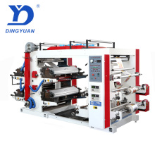 China high quality YT-4600 Model flexo 4 colors printing machine with brush