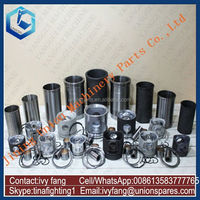 8DC9 Engine Cylinder Liner Kit Piston Piston Ring for Kato Excavator HD1880SE
