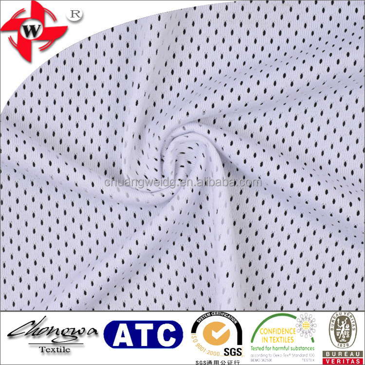 Chuangwei Textile 100 polyester open mesh fabric for sports jersey