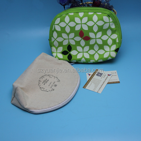 fancy gift promotion custom printing linen pouch with zipper