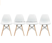 popular hot sale White -Style Side Chair Natural Wood Legs Eiffel Dining Room Chair - Lounge Chair Arm HBRFC3021