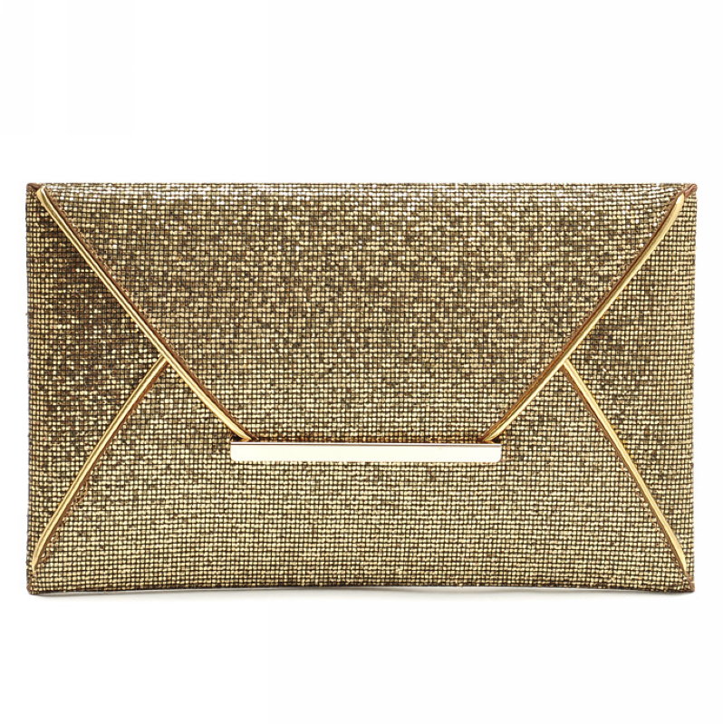 wholesale bling gold personalized purse clutch bag evening for ladies