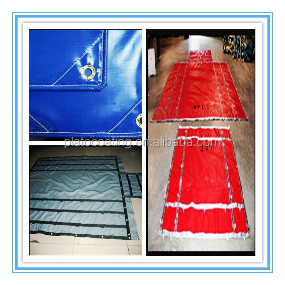 1000D 650gsm Fire Retardant PVC Vinyl Coated Tarpaulin Fabric in roll Made in China
