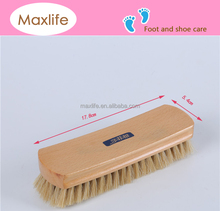 Beech Wood Horse Hair Clean Polish Shine Shoe brush (natural color)