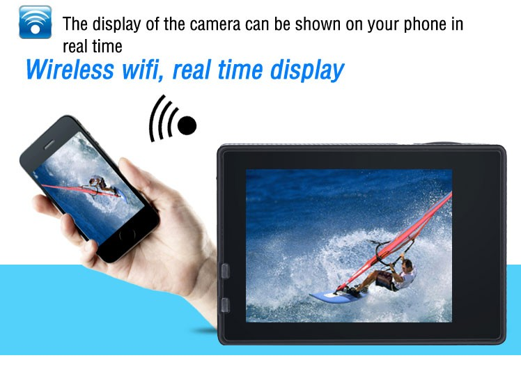 K1 4K WiFi Action Camera Waterproof 2 inch TFT LCD Screen DV Camcorder Sport Video dual screen action camera