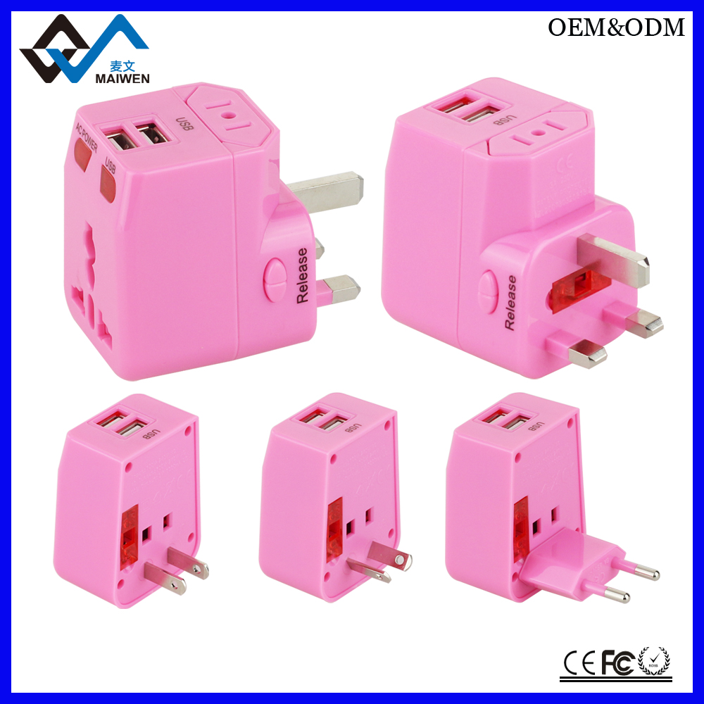 Dual usb ports 2.1A Output Travel charger Power Adapter