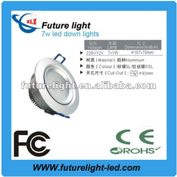 CE and RoHS approval 7w led downlight housing