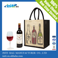 2015 new fashion wholesale wine glass carrier bag