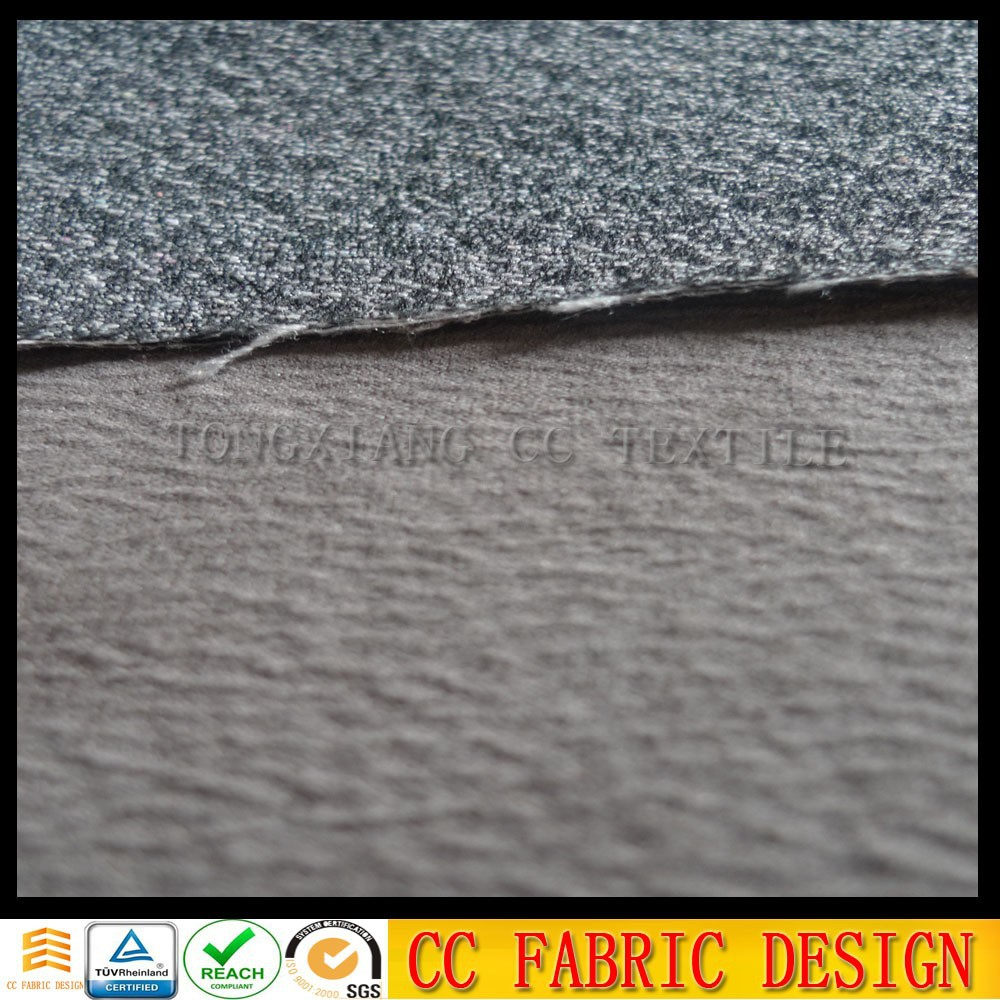 Thin suede fabris with knitt backing wased fabric for sofa, wholesale soft toush sofa fabric