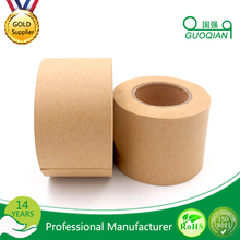 Strong initial adhesion Brown gummed kraft paper tape with solvent based acrylic for sealing