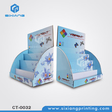 Paper beauty products ad counter display box brochure stand