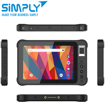 6 8 10 12inch IP65 ip67 waterproof rugged android tablet pc with barcode scanner nfc smart card fingerprint biometric reader