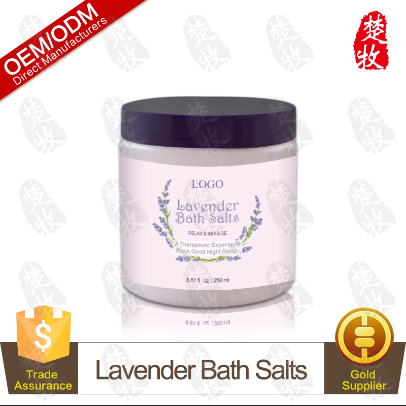 Pure Natural Lavender Fatigue Relief Bath Salt with Dead Sea Salt for SPA 250ml