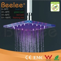 Contemporary Ceiling Mounted LED Bathroom Rainfall Top Head Shower