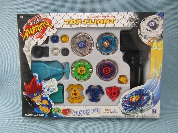 wholesale Beyblade set Metal Fusion with grip and launcher