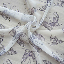 Butterfly Printed Silk Jorjet Cloth,Silk Crepe Georgette from Silk Manufacturer