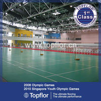 Portable indoor plastic sports surface for badminton court field
