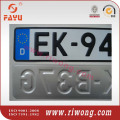 Aluminum car license number plate
