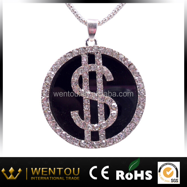 Hot sell dollar sign necklace
