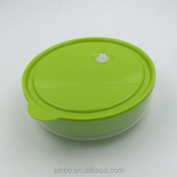 Round Insulated Double Wall Microwave Oven Lunch Box