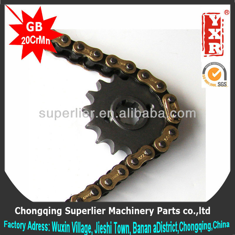 made in china chain sprocket motorcycle,CG 125 TITAN 99 sprocket,forging 1045 steel cd 70 motorcycle parts