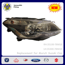 Car Parts Auto Lighting System Head Lamp for Maruti Suzuki Ciaz RS