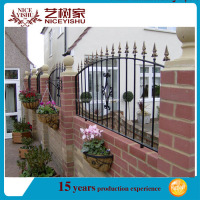 Yishujia factory PVC painting wrought iron fence, antique wrought iron fence panels