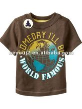 Korean design cotton print brand name clothes for kids t shirt