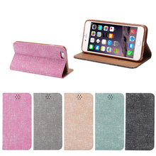 Oxford Fabric Magnetic Flip Leather Case for iPhone 6/6S