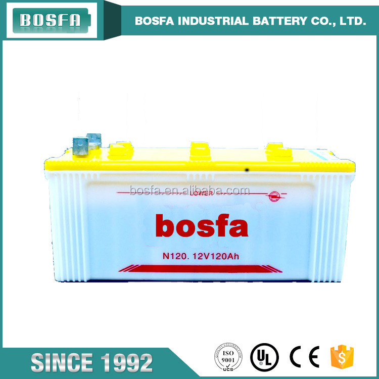 N120 12v 120ah dry charged auto car battery with wholesale price