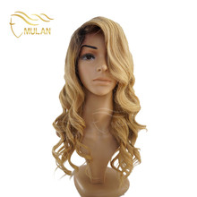 Aliexpress hot selling two tone blonde full lace human hair wig