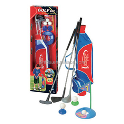 High quality wholesale deluxe kids toy mini indoor golf club putter set
