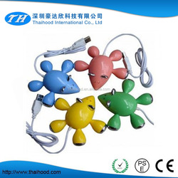 Cute mouse shape 2.0 USB HUB 4 port