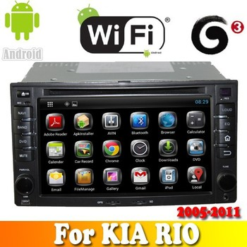 Dual Core android 4.2.2 touch sreen car dvd gps for KIA RIO 2005 2006 2007 2008 2009 2010 2011 car radio with bt ipod tv wifi 3G