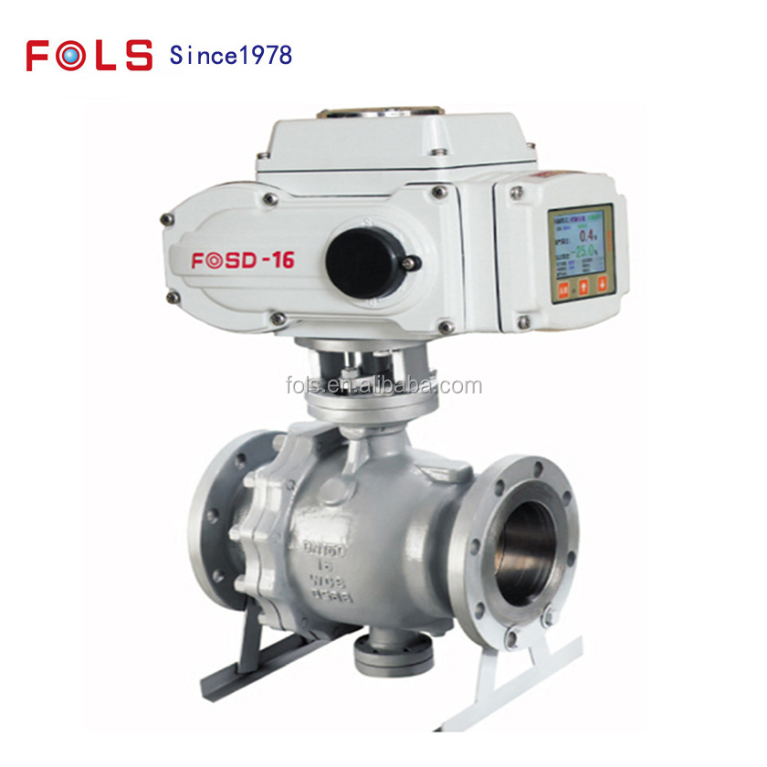electric regulating fire safety Stainless steel trunnion ball valve