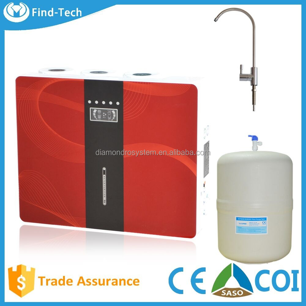 Luxury 5 stage ionizer alkaline ro water purifier/reverse osmosis system ro plant with ro parts