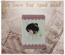 Case for ipad mini/leather case with stylus holder for ipad mini
