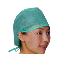 green color custom surgical caps for long hair