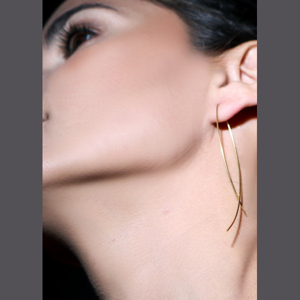 RR gift fashion style earring, fake gold turkish copper jewelry