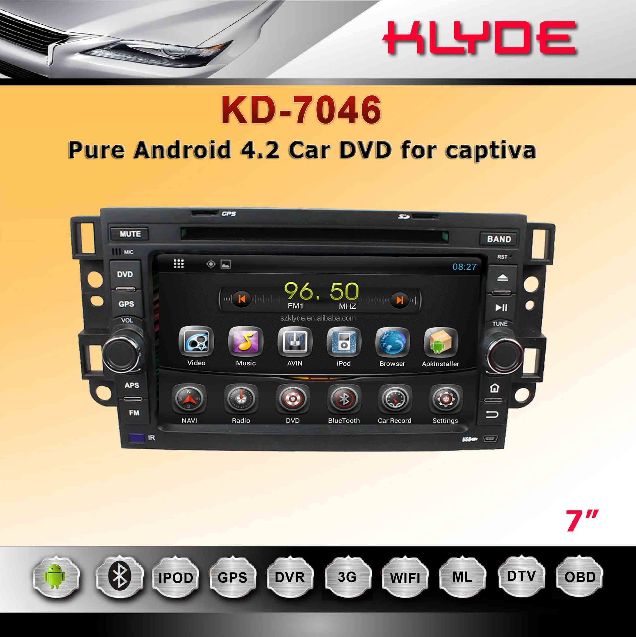 pure android 4.2 car dvd for AVEO/EPICA/CAPATIVA