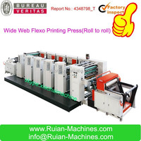 HAS VIDEO 0.1mm Wide Web High Speed Flexo Printing Press For Paper Cup and Paper Bag,4 ,5 ,6 colors Kraft Paper Printing Machine