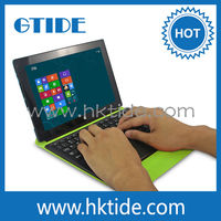 Green Wireless Bluetooth Mini Keyboard Case with Built-in Touchpad air mouse for win 8 tablet
