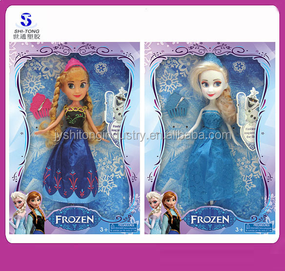 2016 New Movie Fashion Toys Popular Frozen Elsa Anna Dolls Plastic Girls' Gift Toys 9 inch