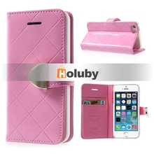Luxury Wallet Style Leather Case for iPhone5/5s, Leather Case for iPhone 5s Made in China(Mixed Colors)