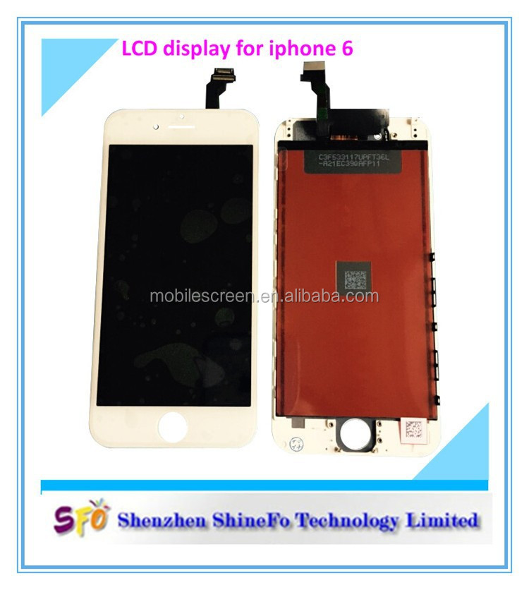 High Quality Black 4.7'' Touch Screens For iPhone 6 LCD
