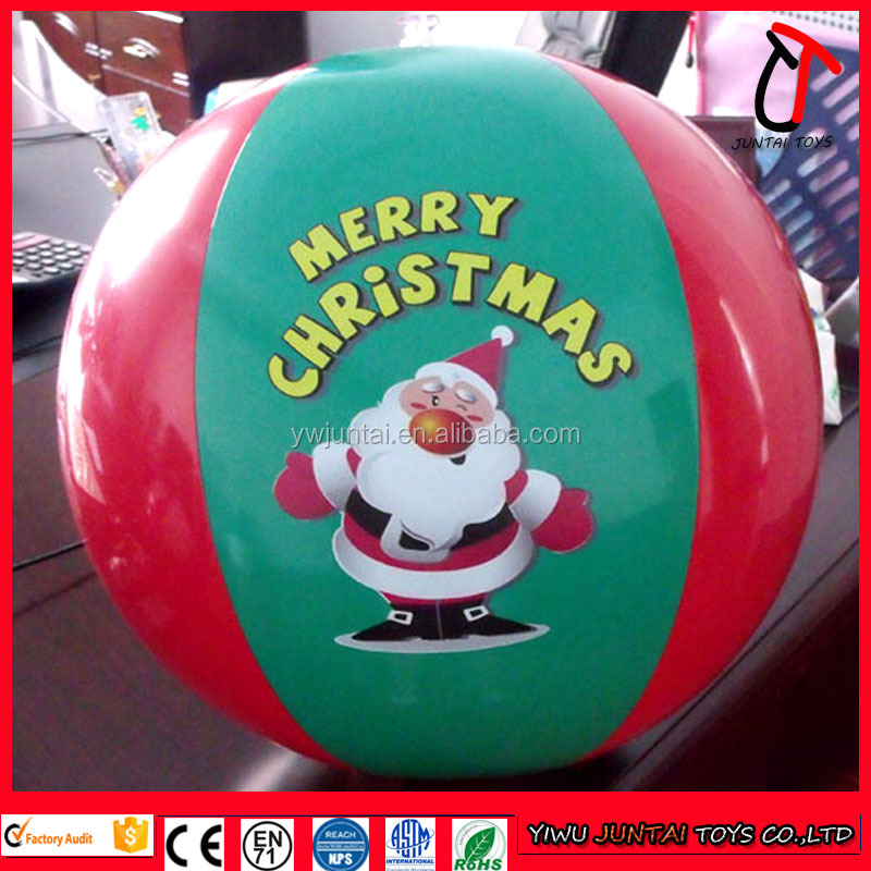 Discount cheap custom giant standard size inflatable christmas beach ball for christmas day