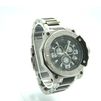 stainless steel case back watch for man with japan mechanical chronograph movement and waterproof from China watch factory