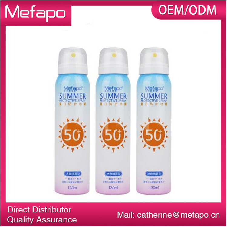 Wholesale Natural OEM SPF 50 Sunscreen Spray with Custom Logo