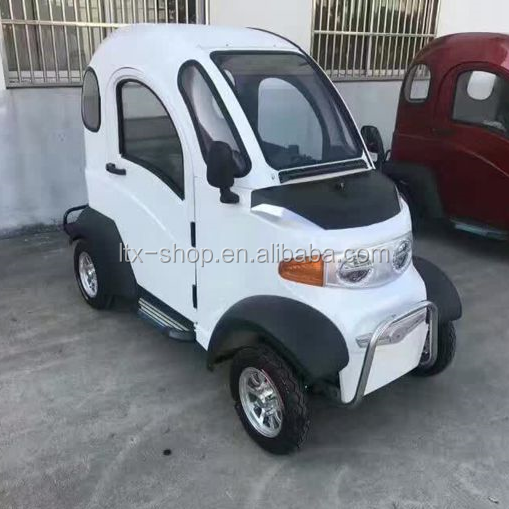 New PickUp Type Electric Mobility Scooter, 60V 1000W 4 Wheel Mini Full Enclosed New Energy Automobile, 2 Seats Mobility Scooter