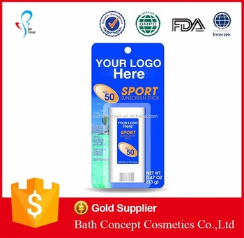 OEM Factory baby use zinc sunscreen stick